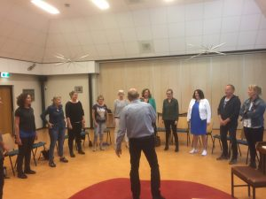 groep zangers auditie MFC de Brink in Sleen