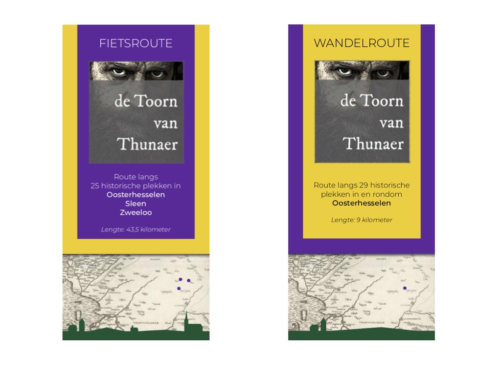 Fiets- en wandelroute Toorn van Thunaer