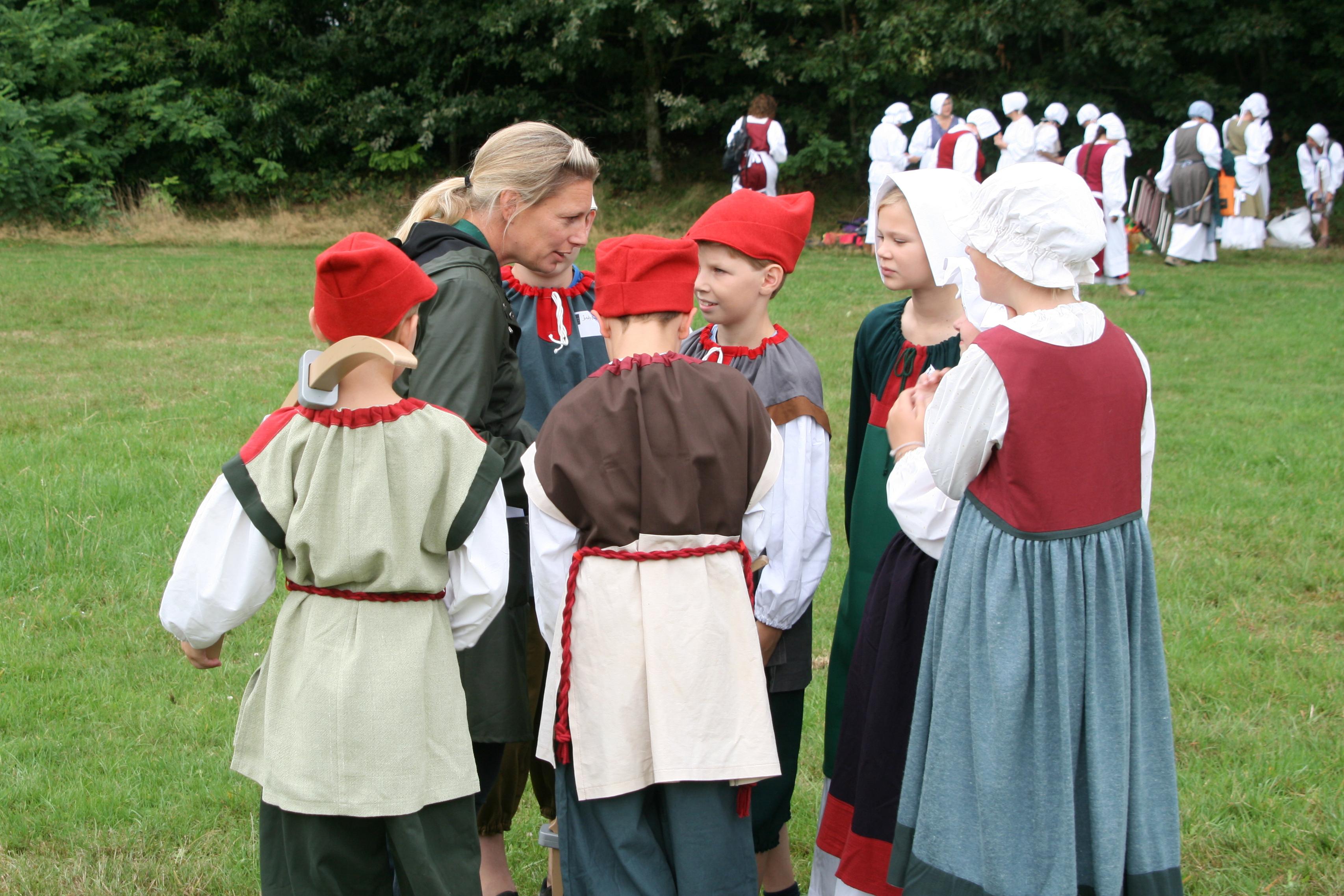 Hanneke Braam met de kinderen